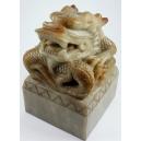 CHIŃSKI SMOK - PIECZĘĆ, jadeit, Chiny, XIX / XXw.