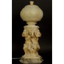 LAMPA Z PUTTAMI, alabaster, Włochy (?), XIX/XX  w.