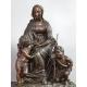 Zegar z Matką Boską, Chrystusem i Janem Chrzcicielem 54cm x 59cm x 25cm
