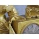 Zegar złocony z Damą i kosztownościami. 39cm x 45cm x 15cm