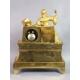 Zegar złocony z Damą z kosztownościami. 39cm x 45cm x 15cm