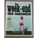 "PLAKAT ""LE WEEK-END DES ASSASSINS"" (mały)"