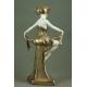 TANCERKA, porcelana, art deco, lata 30. XX w.