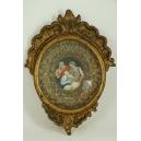 EDUKACJA MARII, miniatura w ramie, XVIII w.