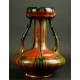 CZERWONY WAZON, ceramika, secesja, ok. 1900 r.