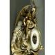 BAROMETR Z CHRONOSEM, cynkal brązowiony, koniec XIX - początek XX w.