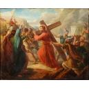 TRZY STACJE DROGI KRZYŻOWEJ, klasycyzm, Paryż, ok. 1840/50 r.