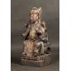CHIŃCZYK, drewno polichromowane, dynastia Qing, XVII/XVIII w.