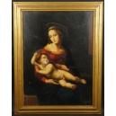 Conzetta Ciappa (1900 - ?)  wg. Rafaela Santi. Olej na płótnie. 105cm x 81cm.