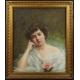 Maurice Paul Alleon. XIX/XXw. Pastel. 76cm x 65cm.
