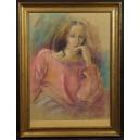 Annie Puybareau (1955 -) Francja. Pastel. 80,5cm x 60,5cm.