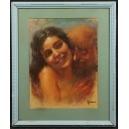 Alfred Faino (1885 – 1944) Pastel. 63cm x 52cm.