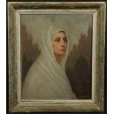 Marie Costa XIX/XXw. Olej. 75,5cm x 65cm.