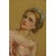 Mariette Lipscher. XIX/XXw. Pastel.  74cm x 56cm.
