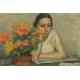 Charles August Edelmann (1879 – 1950) Pastel.  58cm x 48cm.