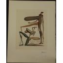 Salwador Dali. Grafika. 43,5cm x 33cm.