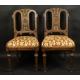 Dwa krzesła klasycystyczne. Koniec XVIIIw.