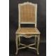 Krzesło  regencyjne, polichromowane.  (1715-1723).
