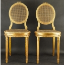 Dwa krzesełka złocone. XIXw.