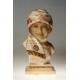POPIERSIE KOBIETY, alabaster, art deco, Francja, lata 20 XX w.