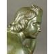 AKT KOBIECY, L. Alliot, brąz, art deco, lata 20-30. XX w.