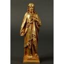 NAJŚWIĘTSZE SERCE JEZUSA, brąz złocony, XIX/ XX w.