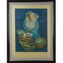 WAŻENIE, L. Toffoli, litografia, 1907-1999 r.