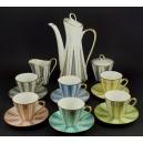 SERWIS KAWOWY DLA 6-CIU OSÓB, Winterling Roslau Bavaria, porcelana, Niemcy, 1945-1950.