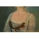 PORTRET DAMY Z WIEWIÓRKĄ, pastel, klasycyzm, ok. 1780 r.