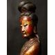 GUANYIN, drewno polichromowane, Chiny, dynastia Qing, XIX w.