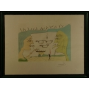 Salwador DALI, TELEGRAF z cyklu Hołd dla Leonadra da Vinci (Wielkie Wynalazki), lata 60-70. XX w.