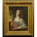 PORTRET DAMY, olej na płótnie, barok, XVII w.