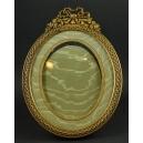 OWALNA RAMKA, brąz, Napoleon III, 2 poł. XIX w.