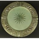 PATERA DO TORTU, srebro, szkło, Niemcy, koniec XIX w.