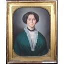 PORTRET KOBIETY, P.N. Fourey, pastel, 1852 r.