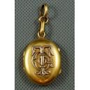 MEDALION - SEKRETNIK, brąz złocony, 2 poł. XIX w.