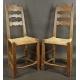 Dwa sygnowane  krzesła barokowe.
