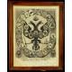 TARCZA HERBOWA IMPERIUM ROSYJSKIEGO, litografia, XIX w.