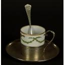 ZESTAW KAWOWY, C. Forgelot, srebro, porcelana, Paryż, 1901-1928 r.