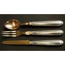 KOMPLET DESEROWY, Henin & Cie, srebro, mosiądz złocony, Paryż, koniec XIX - początek XX w.