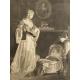 Dors mon enfant, mezzotinta, D. Gérard, klasycyzm, XVIII/XIX w.