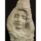 ZAMYŚLONA DZIEWCZYNA, marmur, secesja, Francja, ok. 1900 r.