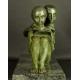 LE PAPILLON, brąz patynowany, art deco, lata 20-30. XX w.