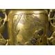 Para wazonów Usubata, brąz - złoto - srebro, Japonia, era Meiji (1868-1912)