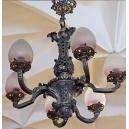 LAMPA NEOKLASYCYSTYCZNA, brąz srebrzony, XIX w.
