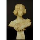 MUZA, A. Frilli, alabaster, Włochy, koniec XIX w.