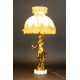+LAMPA Z ABAŻUREM, secesja, Francja, ok. 1900 r.