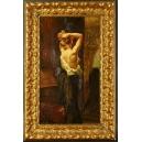 Kobieta przed lustrem. Joseph Middeleer. Olej na płótnie. 79cm x 52cm.