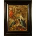 Obraz dwustronny. Barok. XVIIw. Olej na płótnie. 90cm x 72cm.