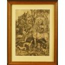 Grafika Albrecht Durer. kopia XIXw. 48,5cm x 37cm